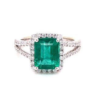 18k Emerald & Diamond RingÊ