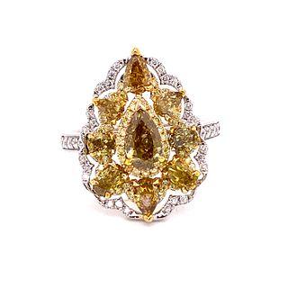 14k Fancy Yellow Diamond RingÊ