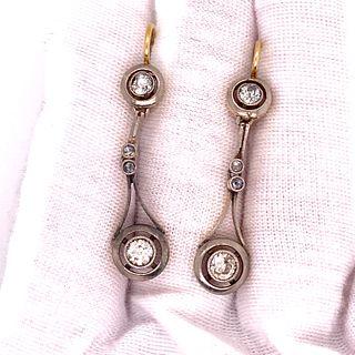 1920Õ 18k Platinum Diamond Drop EarringÊ