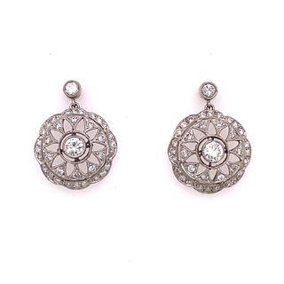 Platinum Diamond EarringÊ