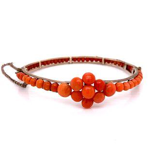 Victorian Vermeil Silver Coral BraceletÊ