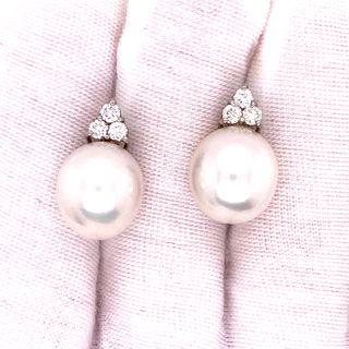 18k Diamond Pearl EarringsÊ