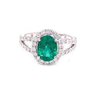 ORIANNE 18k Gold Emerald & Diamond Ring