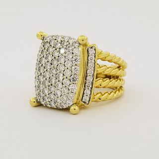 David Yurman 18K Gold Wheaton Ring
