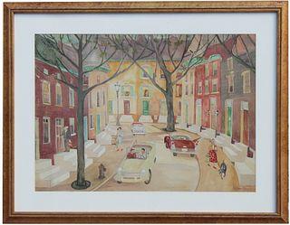 Palmer Hayden (NY, 1890 - 1973) Watercolor