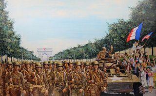 "David K. Stone (1922 - 2001) ""Liberation of Paris"""