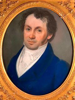 19thc. French School, Pastel Portrait of a Gentleman