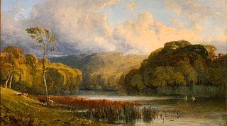 William James Muller Oil, Landscape Near Bristol, c. 1828