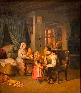 Johann Georg Meyer von Bremen Oil, A Good Story, 1852