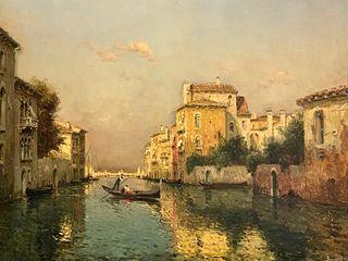 Joseph Antoine Bouvard Oil, Venice Canal