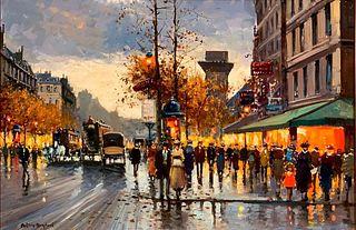 Antoine Blanchard Oil, Paris, Porte St. Denis