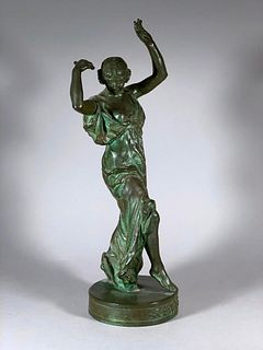 Louis Armand Bardery Bronze Figure Muse of Dance