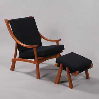 Zen Arc Lounge Chair and Ottoman