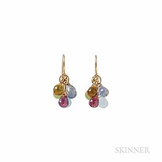 Temple St. Clair 18kt Gold and Multi-gem Earrings