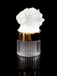 A Lalique Flacon Factice Perfume Bottle Height 4 3/4 inches.