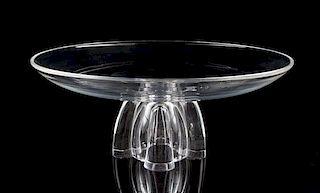 A Steuben Glass Center Bowl Diameter 12 inches.