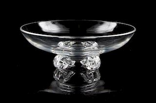 A Large Steuben Glass Bowl Diameter 8 inches.