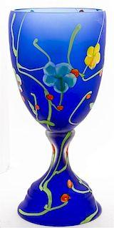 A Vetri Murano Glass Vase Height 25 inches.
