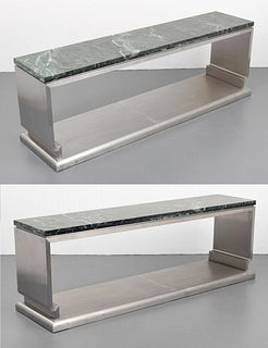 Pair of Custom Massive Jay Spectre Altar-Table Style Consoles