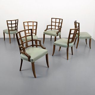 Custom Jay Spectre Lattice Back Chairs, Set of 6
