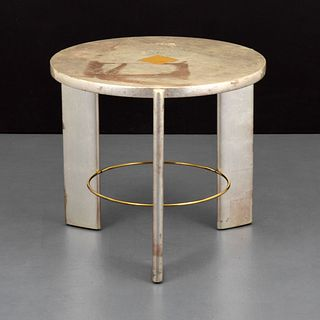Custom Jay Spectre Gold Leaf Side Table