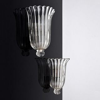 Pair of Archimede Seguso Sconces, Murano
