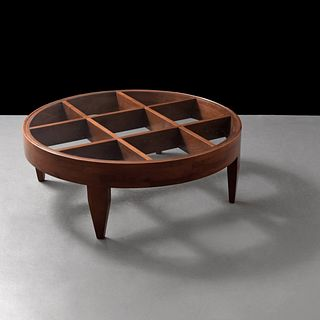 "Rare Gio Ponti ""Grid Structure"" Coffee Table, Gio Ponti Archives Certificate of Expertise"