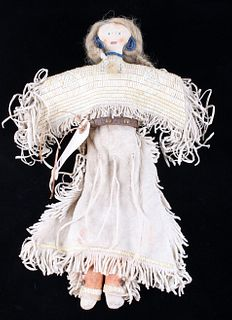 Sioux Quilled White Buffalo Hair Doll 1800's
