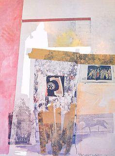 "Robert Rauschenberg ""Watermark"" Print, Signed Edition"