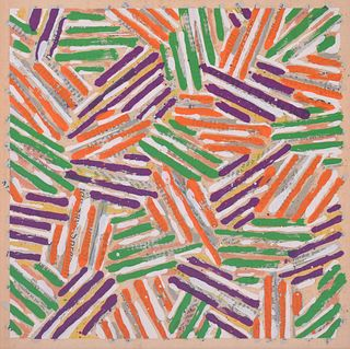 Jasper Johns Screenprint: Catalog Cover Edition