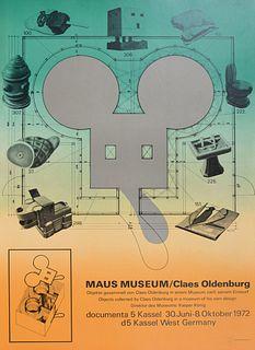 """Claes Thure Oldenburg """"Maus Museum"""" Lithograph"""