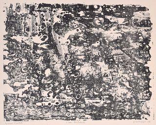 "Jean Dubuffet ""L'eau Turbulente"" Lithograph, Signed Edition"