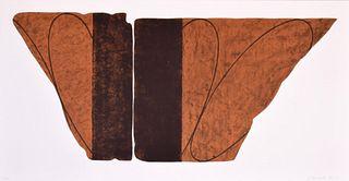 "Robert Mangold ""Fragment VIII"" Lithograph, Signed Edition"