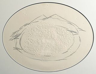 """Antoni Tapies """"Le Riz"""" Relief Etching, Signed Edition"""