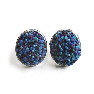 Button Earrings #223