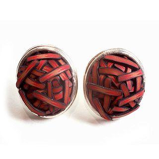Button Earrings #302