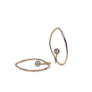 Baby Iris earrings in 18K rose gold