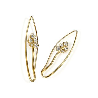 Iris Earrings in 18K Gold with Diamonds