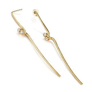Driftwood Earrings in 18K gold with diamonds