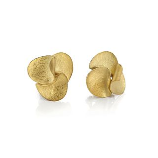 Autumn Leaves Earrings in 18K yellow gold (small)