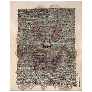 PRECIOS DE RECUPERACIÓN. PEDRO FRIEDEBERG, Sin título, 1955, Firmada, Tinta y acuarela sobre papel.