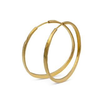 Sterling silver Splash hoops with Vermeil finish and barrel closure (med)