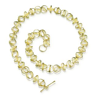 Orbit Necklace in 18K Yellow Gold