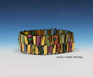 Recycled Newspaper Comic Strip Bracelet