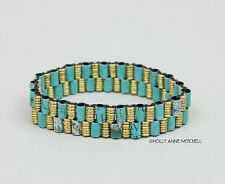 Recycled Newspaper Jewelry Advertisement Bracelet