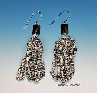 Expired Coupon UPC Bar Code Tassel Earrings