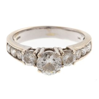 A 1.70 ctw Diamond Ring in 14K White Gold
