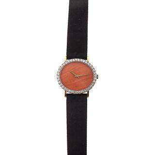 A Rare Vintage Coral & Diamond Piaget Watch
