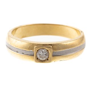 A Two-Tone Diamond Band in 14K