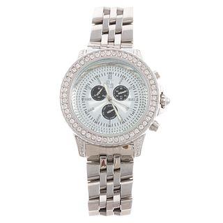 A Men's XLNC Diamond Watch in Stainless Steel